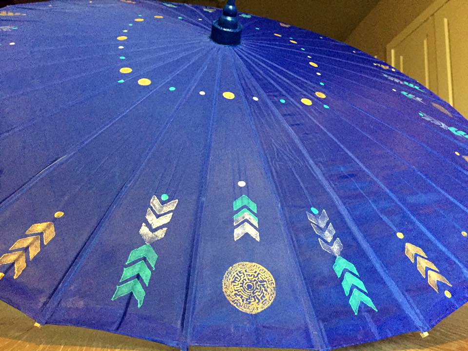 Royal Blue Space Parasol