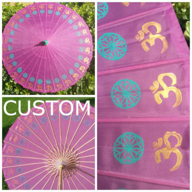 Teal Star Golden Ohm Parasol