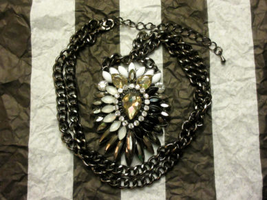 Black and White Firework Necklace