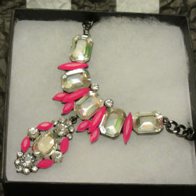 Pink Spaceship Sparkle Necklace
